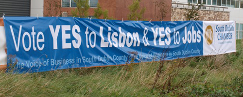 pvc banner for the south dublin chamber